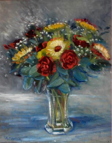 Les FLEURS  dans  L'ART - Page 2 Vente-peinture-18
