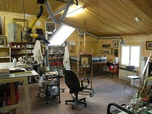 """Fine art restoration studio """"L'Accro des Toiles"""" - Christelle Chazeau and Alain Montoir"""